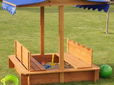 Как сделать детскую песочницу с крышей