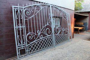 Кованые ворота своими руками фото 443