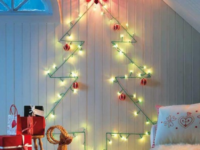 Как гирляндой украсить комнату: красивые украшения для стен, каминных полок и перил на Новый год