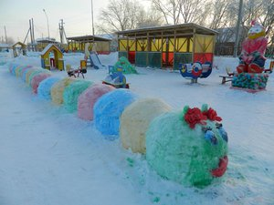 Создание красивых поделок из снега