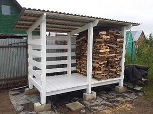Сарай для хранения дров