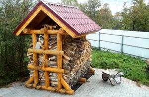 Особенности постройки дровника
