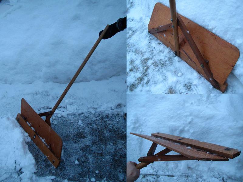 самодельные лопаты для уборки снега