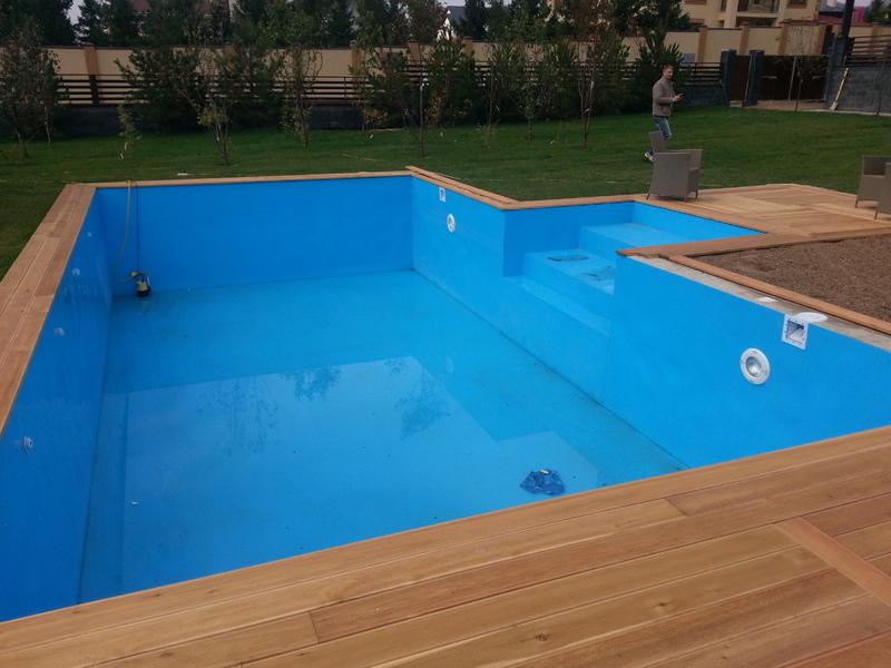 Дачный бассейн из полипропилена