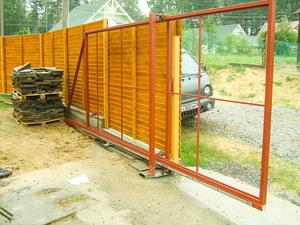 Как работают откатные ворота