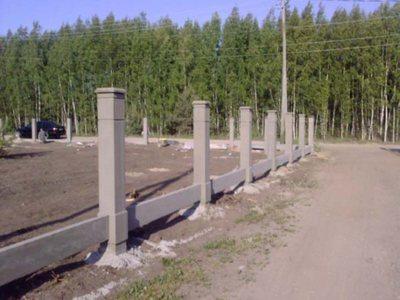 Столбики для забора из бетона