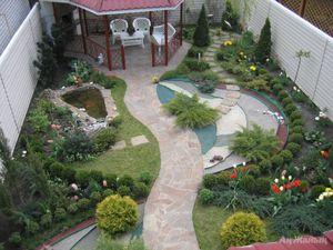 Ландшафтный дизайн малого участка Построй свой дом 19
