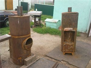 Печь для бани из трубы