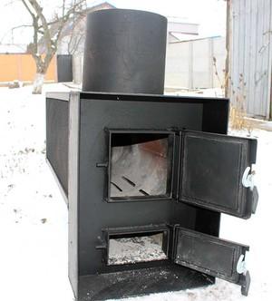 Печка из трубы печь банная из трубы