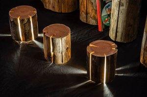 Светильники на деревянной основе
