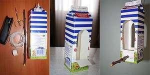 Как из коробки сделать кормушку