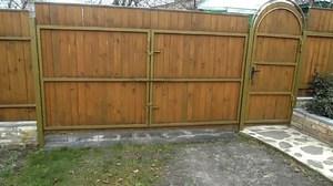 Распашные ворота на даче своими руками